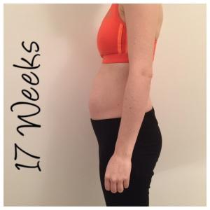 17 week pregnant bump
