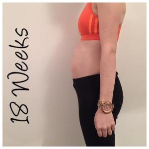18 weeks pregnant bump