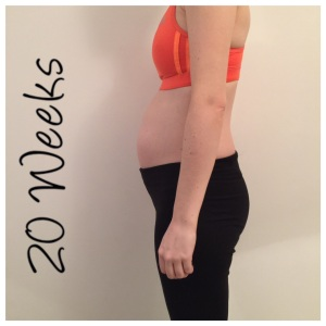20 weeks pregnant bump