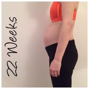22 weeks pregnant bump