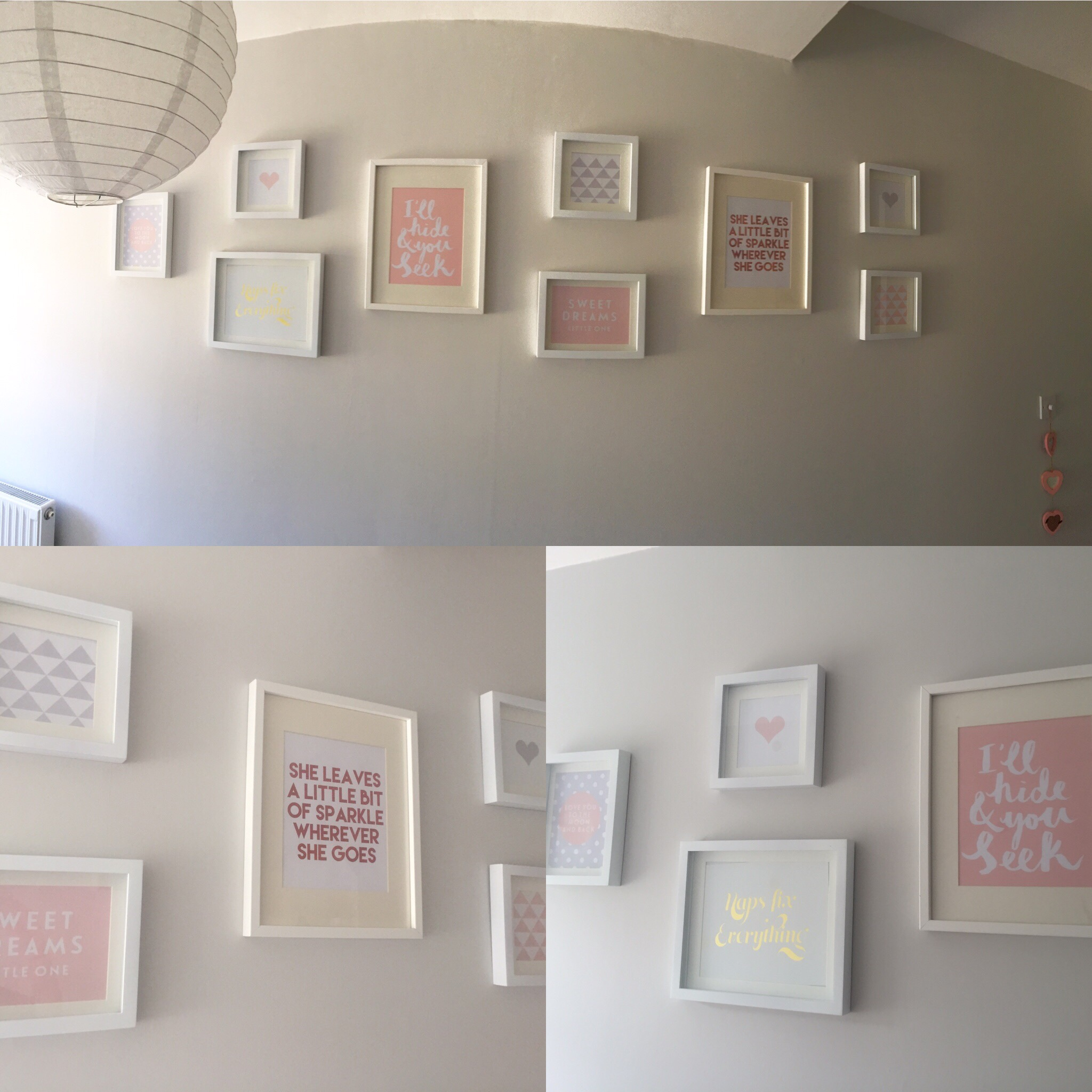 baby girl nursery artwork prints gallery wall